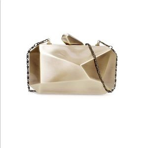 Metal Abstract Stone Cut Hardcase Fashion Clutch